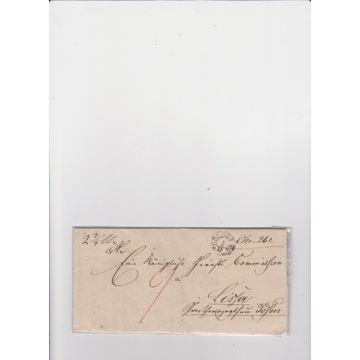 List wysłany z Goldberg (Złotoryja) - 1837 rok