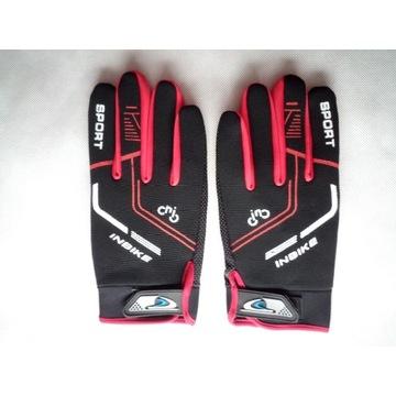 Rękawiczki rowerowe długie InBike czerwone XL