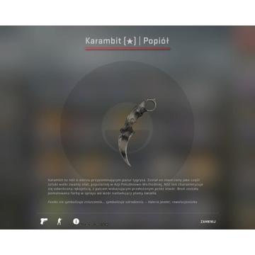 Karambit Popiół (po testach bojowych )