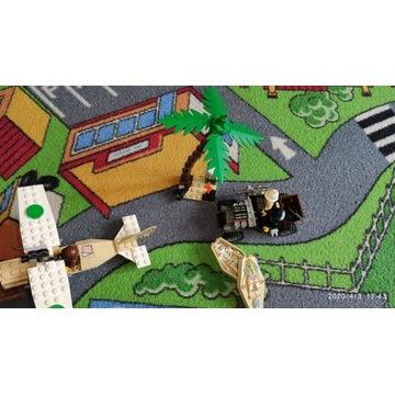 LEGO zestawy 5948,5909,2879 + 3 minifigurki unikat