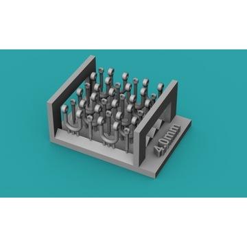 Szekle proste (U) 4,0mm - 10 sztuk - 1:48