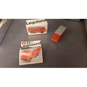 LEGO 602 Fire Truck  Instrukcja oraz pudełko