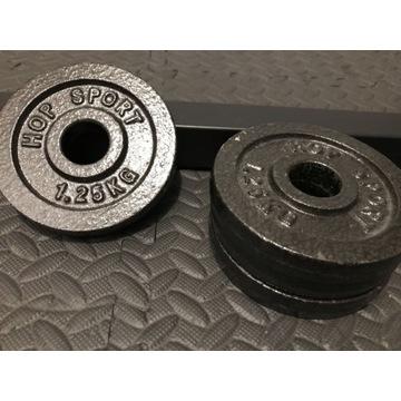 Obciążenia żeliwne 4 sztuki po 1,25kg