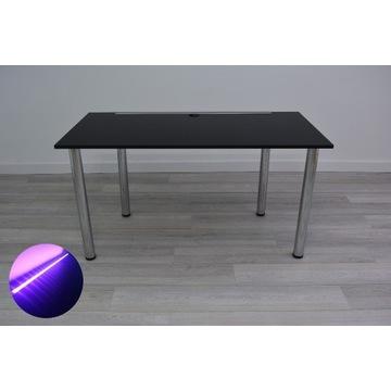 Biurko Gamingowe Biurowe -Basic Line- Czarne LED