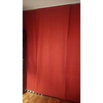Cztery zasłony panele bawełniane zaciemniające