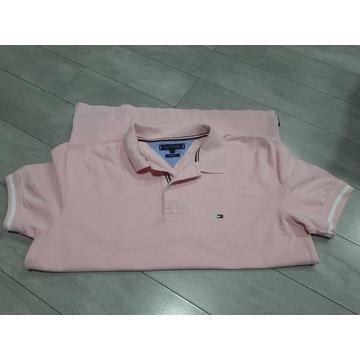 Polo Tommy Hilfiger r.L regular fit różowa