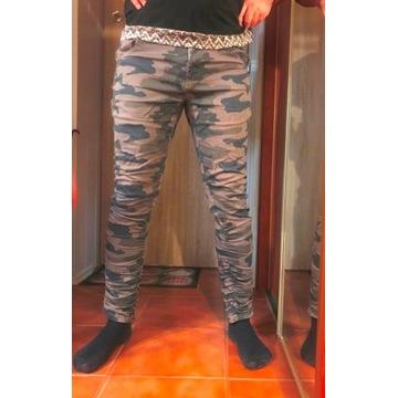 Spodnie Cropp DLAB Camo moro elastyczne