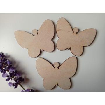 Drewniane Motyle Decoupage 50 szt. 4 cm