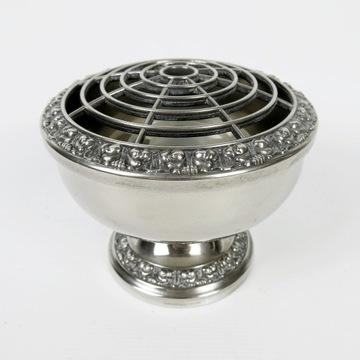 IANTHE posrebrzany flakon rose bowl ikebana