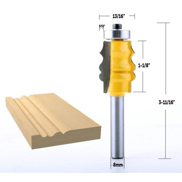 frez do drewna, 8 mm trzpień, wysłka 24h