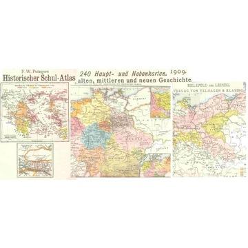 HISTORISCHER SCHUL-ATLAS -- 1909 -- LEIPZIG
