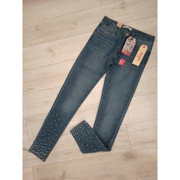 Levis spodnie dżinsy 710 super skinny fit nowe 164