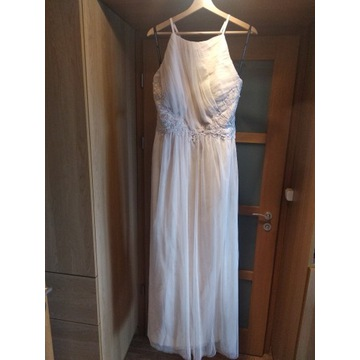 Długa sukienka kremowa Little Mistress rozmiar 44