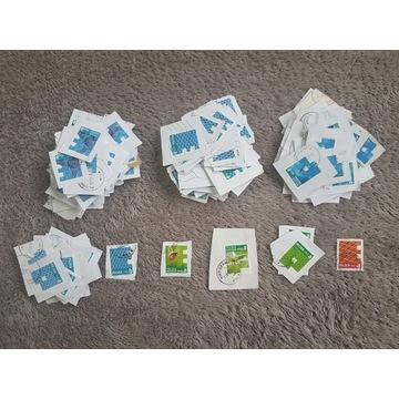Znaczki pocztowe, wycinki kategoryzowane 220szt