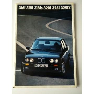 Prospekt BMW 316i-325iX 1990 UNIKAT