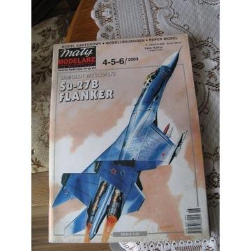 MAŁY MODELARZ 4-5-6/2003 Myśliwiec Su-27B FLANKER