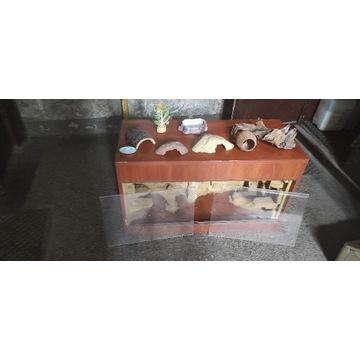 OKAZJA Terrarium 94x40x55 w szafce. Agama, Gekon