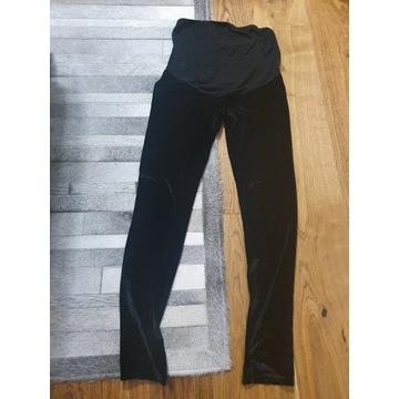 Welurowe legginsy ciążowe bohoo 36 s elastyczne