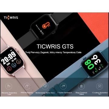 Zegarek sportowy Smartwatch TICWRIS GTS + GRATIS !