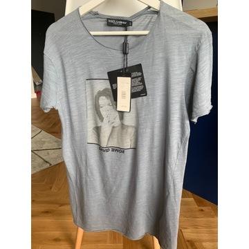 T-shirt Dolce Gabbana Dawid Bowie rozm 52 (M)