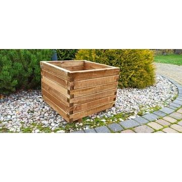 Donica drewniana skrzynia drewna 60x60 50x50 tuje