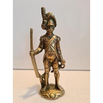 Stara Mosiężna figurka żołnierz #4