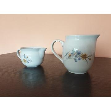 zestaw 2 szt dzbanek mlecznik porcelana Wawel