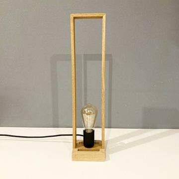 Lampka drewniana RAMKA LONG-stołowa