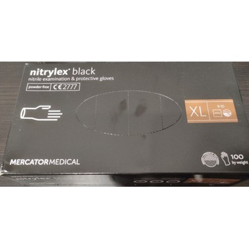 Rękawice nitrylowe bezpudrowe  Rozmiar XL 100 szt.