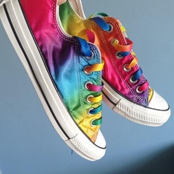 Tęczowe trampki Converse 37,5, rainbow Converse