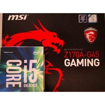 i5 6600k Processor + z170a g45 Gaming