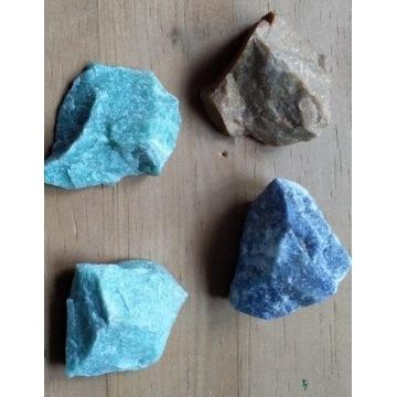 Kwarc zielony niebieski piaskowy zestaw