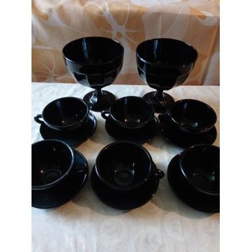 Serwis kawowy szkło hialitowe