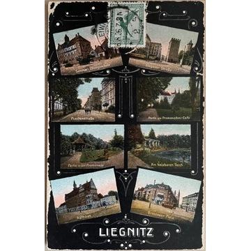 Legnica,Liegnitz, wieloobrazkowa, 1926 rok