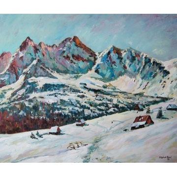 Pejzaż tatrzański, obraz Hala Gąsienicowa zimą