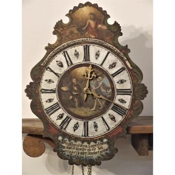 zegar barokowy klasztorny XVIII wiek