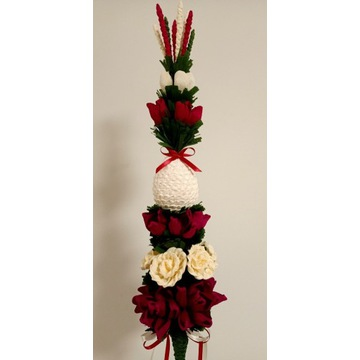 Palma wielkanocna z jajem wysokość około 75-80  cm