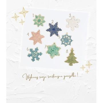 Gwiazdki świąteczne na choinkę, ozdoby świąteczne
