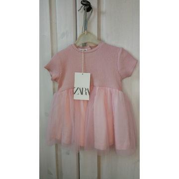 OKAZJA Cudna sukienka tiul ZARA 74cm 6-9mies.