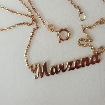 """Sprzedam Celebrytkę  """"Marzena"""" (tylko napis)"""