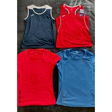 4 bluzki biegowe damskie, zestaw, r. XS/M/L, nowe