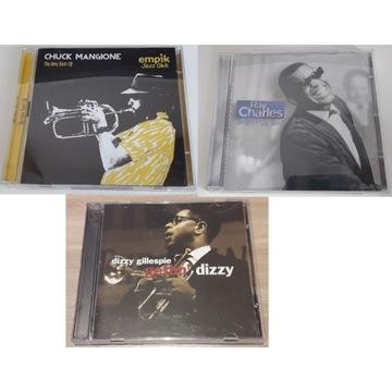 Zestaw CD jazz: C.Mangione,R.Charles,D.Gillespie