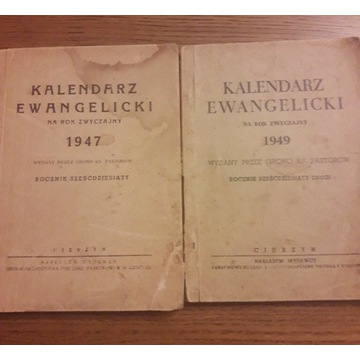 Kalendarz ewangelicki 1947 1949 Śląsk Cieszynski