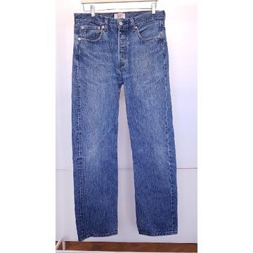 Spodnie jeansowe LEVIS Straight leg 501 W33 L34