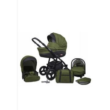Wózek dziecięcy 3w1 babylux AXEL oliwkowy
