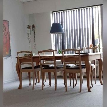Stół dębowy 125x100(275)cm