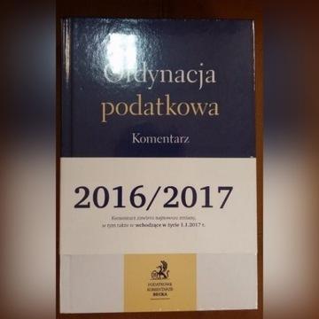 Ordynacja podatkowa Komentarz 2016/17