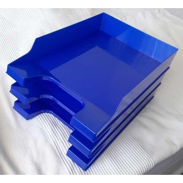 Plastikowy organizer na dokumenty A4 niebieski