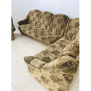 Kanapa + 2 fotele z opcja spania