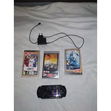 Sony PSP konsola bardzo dobry stan + trzy gry grat